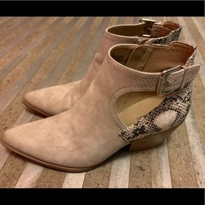 Seven Dial Snake Skin Bootie